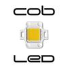 Chip On Board LED. LED fijado a una base de aluminio, con mayor refrigeración, rendimiento lumínico y vida